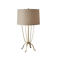 Feiss Shaw 1 Light Table Lamp in Metallic Moondust and Champagne Finish 10198MND