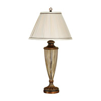 Feiss Independents 1 Light Table Lamp in Firenze Gold 9406FG photo thumbnail
