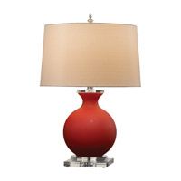 Feiss Lainey 1 Light Table Lamp in Red Cased 9734RC photo thumbnail