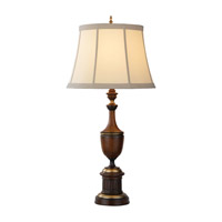 Feiss Quinton Court 1 Light Table Lamp in Mahogany 9840MHG