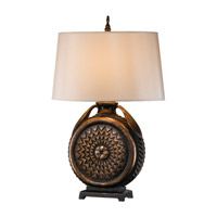Feiss Covina 1 Light Table Lamp in Midnight 9857MT