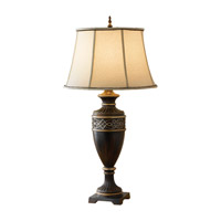 Feiss Bismarck 1 Light Table Lamp in Tudor Brown 9863TBR photo thumbnail