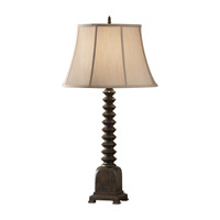 Feiss Independents 1 Light Table Lamp in Dark Walnut 9934DW photo thumbnail