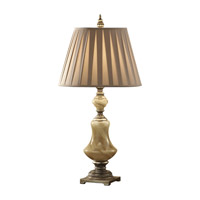 Feiss Elizabetta 1 Light Table Lamp in Cafe Au Lait Glass and Aged Silver Leaf 9937CAG/AGS photo thumbnail