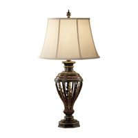 Feiss Heath 1 Light Table Lamp in Ebony and Rubbed wood Finish 9948EBY/RW