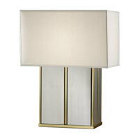 Feiss Sloane 1 Light Table Lamp in Polished Brass and Brushed Steel 9965PB/BS photo thumbnail