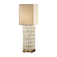 Feiss Nevena 2 Light Table Lamp in Harlequin Pattern Natural Shell and Dark Coffee Bronze 9971HNS/DCB photo thumbnail