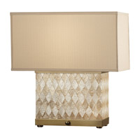 Feiss Nevena 2 Light Table Lamp in Harlequin Pattern Natural Shell and Dark Coffee Bronze 9972HNS/DCB photo thumbnail
