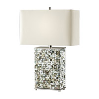 Feiss Aria 1 Light Table Lamp in Polished Nickel and Black Pearl Shell 9988PN/BKPS
