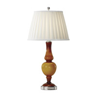 Feiss Sidonia 1 Light Table Lamp in Polished Nickel and Amber Seeded Glass 9998PN/ASG