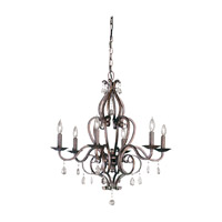 Mademoiselle 6 Light 28 inch Peruvian Bronze Chandelier Ceiling Light