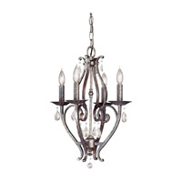 Mademoiselle 4 Light 16 inch Peruvian Bronze Mini Chandelier Ceiling Light