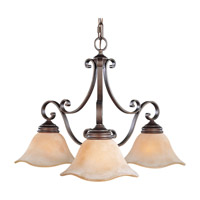 Tuscan Villa 3 Light 26 inch Corinthian Bronze Chandelier Ceiling Light