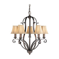 Feiss F1839/5CB Tuscan Villa 5 Light 24 inch Corinthian Bronze Chandelier Ceiling Light photo thumbnail