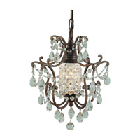 Feiss F1879/1BRB Maison De Ville 1 Light 11 inch British Bronze Mini Chandelier Ceiling Light in Standard