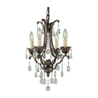 Maison De Ville 4 Light 13 inch British Bronze Mini Chandelier Ceiling Light