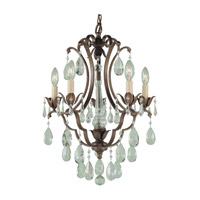 Maison De Ville 5 Light 16 inch British Bronze Mini Chandelier Ceiling Light
