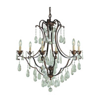 Maison De Ville 6 Light 28 inch British Bronze Chandelier Ceiling Light