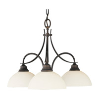 Feiss Boulevard 3 Light Chandelier in Oil Rubbed Bronze F1885/3ORB