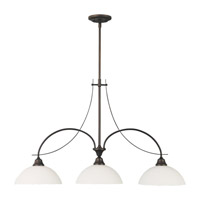 Boulevard 3 Light 39 inch Oil Rubbed Bronze Billiard Light Ceiling Light