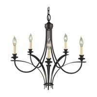 Boulevard 5 Light 26 inch Oil Rubbed Bronze Chandelier Ceiling Light