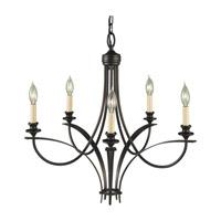 Feiss F1888/5ORB Boulevard 5 Light 26 inch Oil Rubbed Bronze Chandelier Ceiling Light