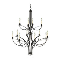 Feiss F1891/8+4ORB Boulevard 12 Light 42 inch Oil Rubbed Bronze Chandelier Ceiling Light