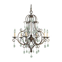 Chateau 6 Light 25 inch Mocha Bronze Chandelier Ceiling Light