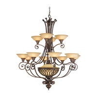 Stirling Castle 13 Light 47 inch British Bronze Chandelier Ceiling Light