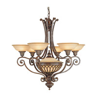 Feiss Stirling Castle 7 Light Chandelier in British Bronze F1919/6+1BRB