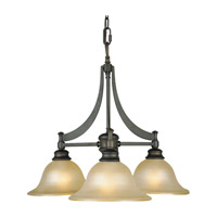 Feiss Pub 3 Light Chandelier in Oil Rubbed Bronze F1922/3ORB