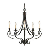 Feiss Cervantes 5 Light Chandelier in Liberty Bronze F1929/5LBR