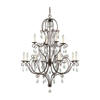 Feiss F1938/8+4MBZ Chateau 12 Light 36 inch Mocha Bronze Chandelier Ceiling Light