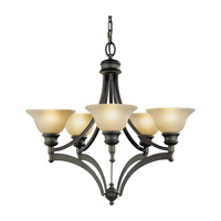 Feiss Pub 5 Light Chandelier in Oil Rubbed Bronze F1942/5ORB