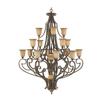 Feiss Coventry Castle 17 Light Chandelier in Aged Tortoise Shell F2008/8+4+4ATS