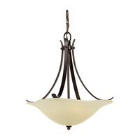 Morningside 3 Light 18 inch Grecian Bronze Pendant Ceiling Light in Cream Snow Glass