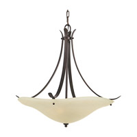 Morningside LED 24 inch Grecian Bronze Uplight Chandelier Ceiling Light in Screw-in LED