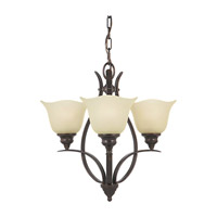 Feiss F2047/3GBZ Morningside 3 Light 20 inch Grecian Bronze Mini Chandelier Ceiling Light in Cream Snow Glass