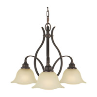 Morningside 3 Light 24 inch Grecian Bronze Chandelier Ceiling Light in Cream Snow Glass