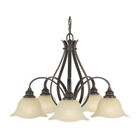 Feiss F2050/5GBZ Morningside 5 Light 26 inch Grecian Bronze Chandelier Ceiling Light in Cream Snow Glass
