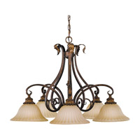 Feiss Sonoma Valley 5 Light Chandelier in Aged Tortoise Shell F2075/5ATS photo thumbnail
