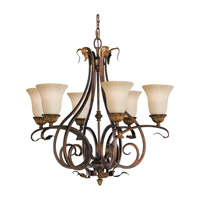 Feiss Sonoma Valley 6 Light Chandelier in Aged Tortoise Shell F2076/6ATS