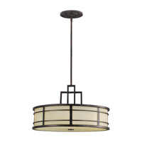 Feiss Fusion LED Pendant in Grecian Bronze F2081/3GBZ-LA