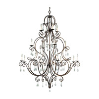 Chateau 16 Light 54 inch Mocha Bronze Chandelier - Multi Ceiling Light