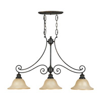 Feiss Cervantes 3 Light Billiard Light in Liberty Bronze F2185/3LBR