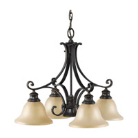 Feiss F2186/4+1LBR Cervantes 5 Light 25 inch Liberty Bronze Chandelier Ceiling Light