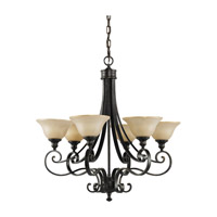 Feiss Cervantes 6 Light Chandelier in Liberty Bronze F2187/6LBR