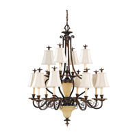 Feiss Tres Chic Belle Fleur 14 Light Chandelier in Firenze Gold F2209/8+4FG photo thumbnail