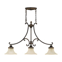 Drawing Room 3 Light 38 inch Walnut Billiard Light Ceiling Light