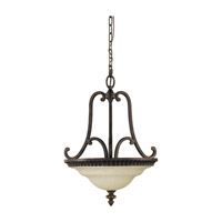 Drawing Room 2 Light 17 inch Walnut Pendant Ceiling Light in Standard